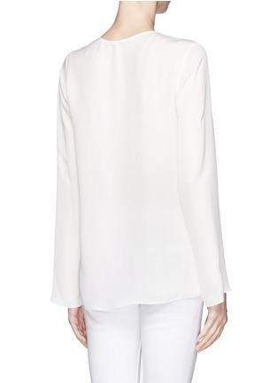 Back View - Click To Enlarge - Theory - 'Trent' silk blouse