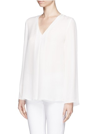 Front View - Click To Enlarge - Theory - 'Trent' silk blouse
