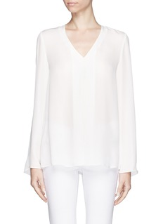 THEORYTrent silk blouse