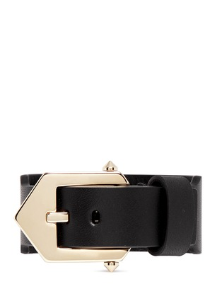 Back View - Click To Enlarge - Givenchy - Star stud leather bracelet