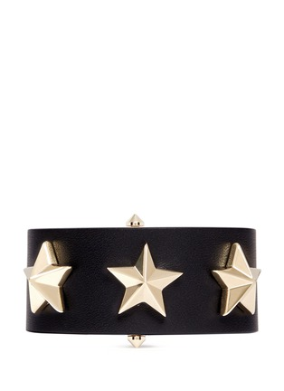 Main View - Click To Enlarge - Givenchy - Star stud leather bracelet