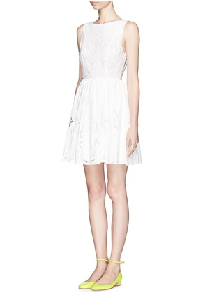 Front View - Click To Enlarge - alice + olivia - 'Vinny' embroidered dress