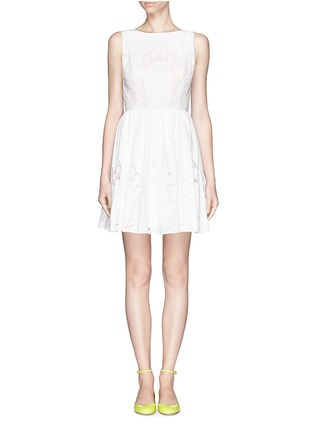 Main View - Click To Enlarge - alice + olivia - 'Vinny' embroidered dress