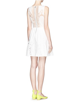 Figure View - Click To Enlarge - alice + olivia - 'Vinny' embroidered dress