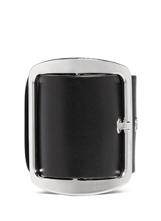 GIVENCHY Leather buckle chunky bracelet
