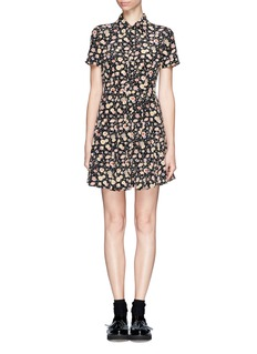 ELIZABETH AND JAMES 'Maren' floral silk dress