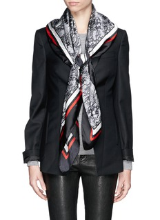 GIVENCHY Lace print silk scarf