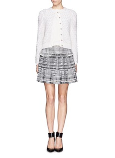 ALICE + OLIVIA Pearl novelty stitch cropped cardigan