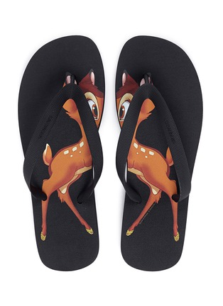 Detail View - Click To Enlarge - Givenchy - Bambi print flip flops