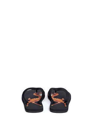 Back View - Click To Enlarge - Givenchy - Bambi print flip flops