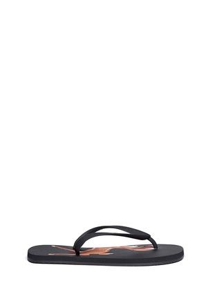 Main View - Click To Enlarge - Givenchy - Bambi print flip flops