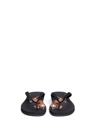 Figure View - Click To Enlarge - Givenchy - Bambi print flip flops