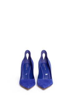 SERGIO ROSSI Cut-out suede pumps