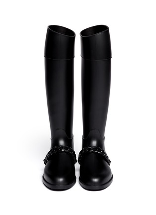 Figure View - Click To Enlarge - Givenchy - Equestrian rubber rainboots