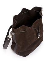 Large suede bucket bag