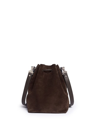 Back View - Click To Enlarge - Proenza Schouler - Large suede bucket bag