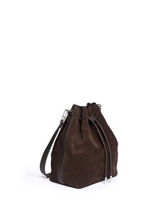 Front View - Click To Enlarge - Proenza Schouler - Large suede bucket bag