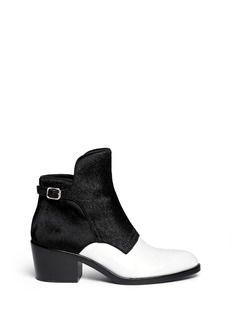 ALEXANDER WANG 'Cara' calf hair leather ankle boots