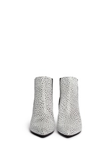 ALEXANDER WANG 'Veisa' corrugated suede cuff etched leather boots