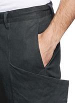 侧口袋低裆长裤
