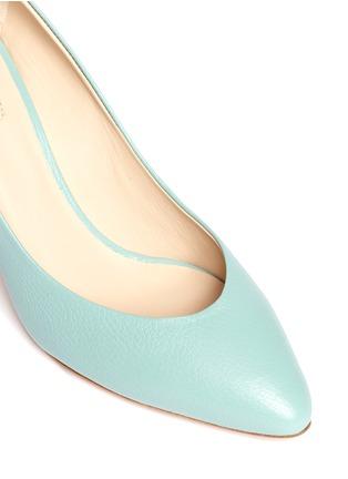 CHLOÉ-Metal plate heel leather pumps