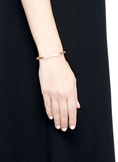 Michelle Campbell 'Honeycomb Hinge' 14k gold plated bracelet