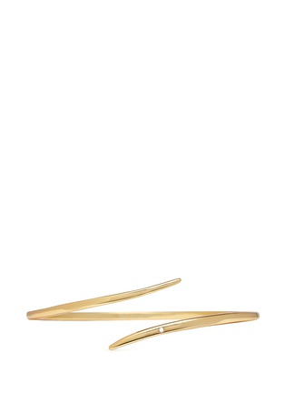 Main View - Click To Enlarge - Michelle Campbell - 'Tornado' crystal 14k gold plated cuff