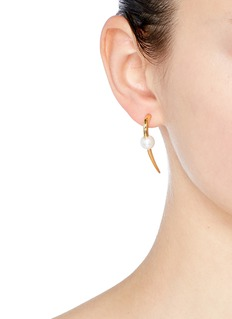 Michelle Campbell 'Large Talon' Swarovski pearl 14k gold earrings