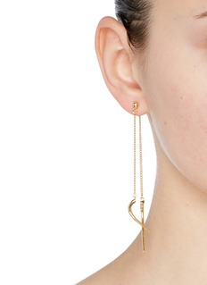 Michelle Campbell 'Double Talon' 14k gold drop earrings