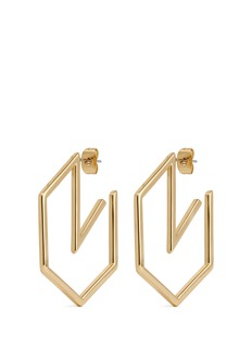 Michelle Campbell 'Honeycomb' 14k gold hoop earrings