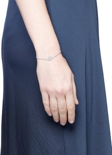 Ruifier'Merry' stering silver charm cord bracelet