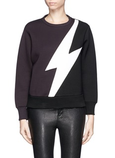 NEIL BARRETTLightning bolt bonded jersey sweatshirt