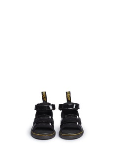Dr. Martens 'Marabel T' ankle strap patent leather toddler sandals