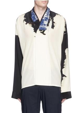 Main View - Click To Enlarge - Haider Ackermann - 'Digoxine' print shawl lapel silk shirt