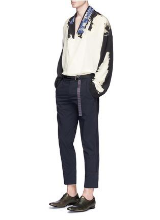 Figure View - Click To Enlarge - Haider Ackermann - 'Digoxine' print shawl lapel silk shirt