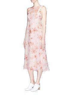 Calvin Klein Collection'Lavern' floral print silk organza bustier dress