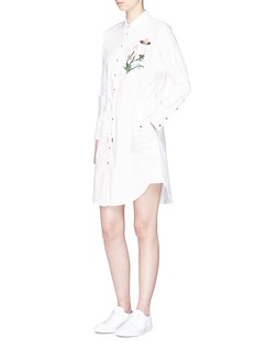 HELEN LEE 'Flying Bunny' embroidered shirt jacket