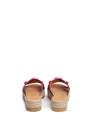 Back View - Click To Enlarge - MABU by Maria BK - 'Violette' tribal embroidered espadrille platform slide sandals