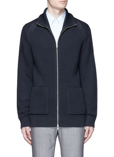 Theory'Ronzons LR' chunky knit zip cardigan