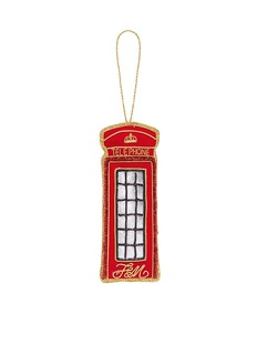 Fortnum & Mason Tinker Tailor vintage telephone booth Christmas ornament