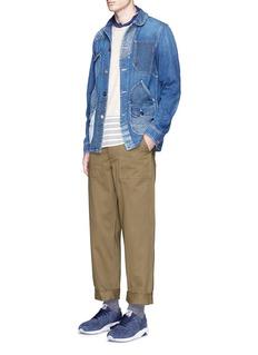 FDMTLBoro patchwork blouson jacket