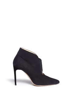 Bionda Castana 'Holly' calfskin suede stiletto ankle boots