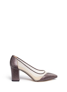 Bionda Castana 'Lama' mesh panel glitter leather pumps