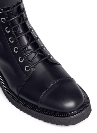 Detail View - Click To Enlarge - Giuseppe Zanotti Design - 'Hilary' buckle leather combat boots