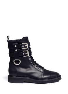 Giuseppe Zanotti Design'Hilary' buckle leather combat boots