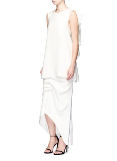 Maticevski'Victorious' pleated asymmetric skirt