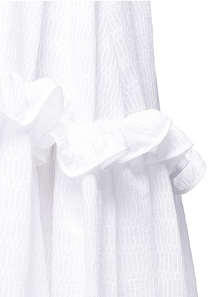 Detail View - Click To Enlarge - Maticevski - 'Virtuous' window pattern cotton blend ruffle skirt
