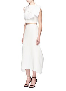 Maticevski 'Everlasting' folded panel cropped top