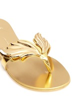 'Cruel' mirror patent leather slide sandals