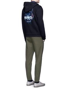 KENZOTiger embroidered zip hoodie